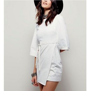 FREE PEOPLE Woven Dress Intricate Mini Swing Tunic